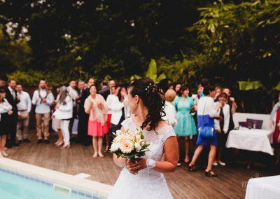 cocktail pour mariage avec piscine