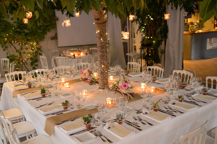 decoration mariage table carree
