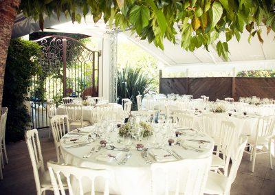 salle de reception en plein air pour un mariage au pays basque
